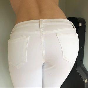White J. Crew Toothpick Jeans